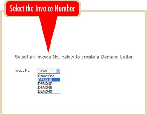 Demand Letter Proz create an demand letter iinvoicing the invoicing system