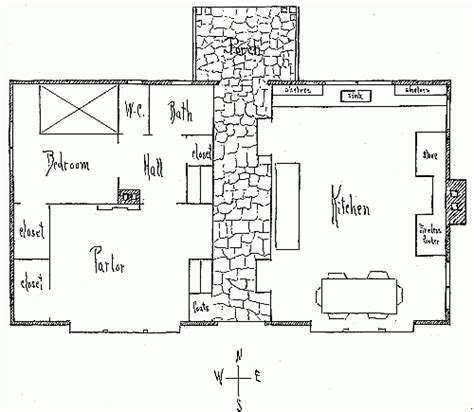 1920 Thatched Cottage Kitchen Thatched Cottage House Plans