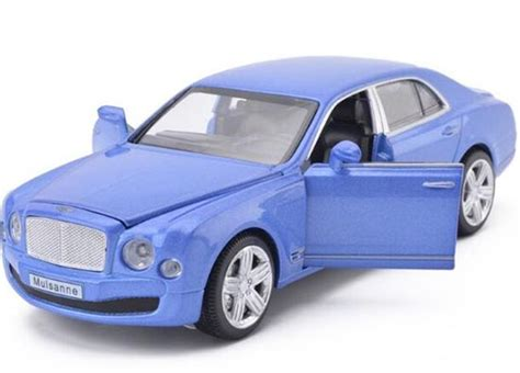 purple bentley mulsanne purple blue white golden 1 32 diecast bentley