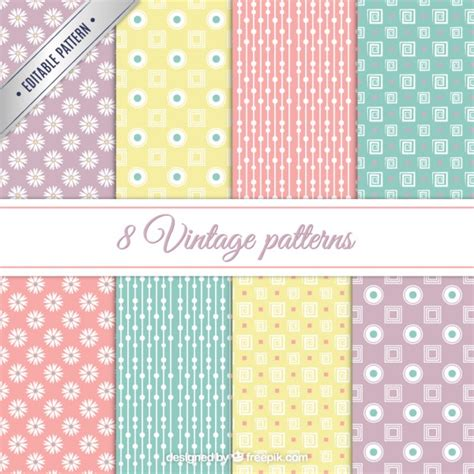 vector pattern pastel free vintage patterns in pastel colors vector free download