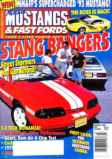 mustangs and fast fords back issues backissues mustangs fast fords march 1994