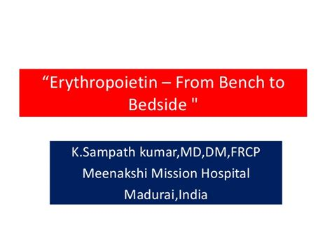 from bench to bedside erythropoetin from bench to bedside
