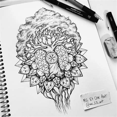 yggdrasil mandala tattoo design on behance