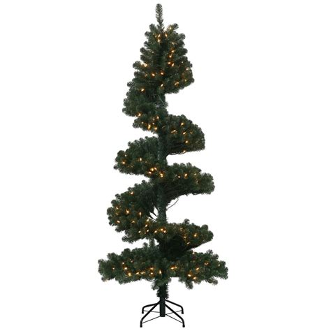 7 foot artificial spiral christmas pine tree unlit n134470