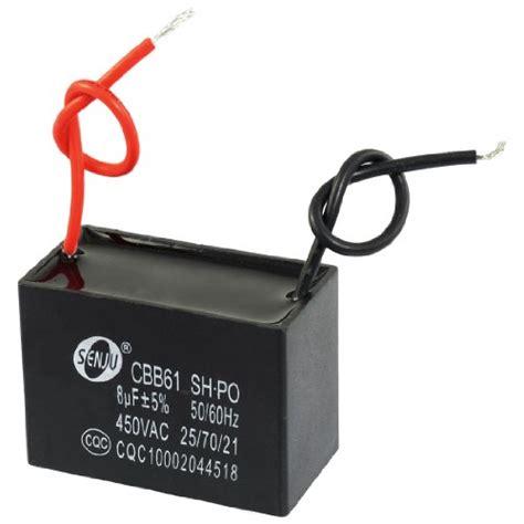 kapasitor non polar 47 uf 450vac uxcell a12122700ux0161 cbb61 8uf ac 450v rectangle 2 wire non polar motor run capacitor