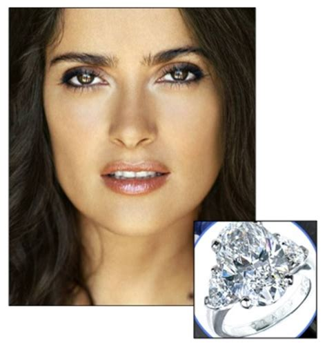 Salma Hayek Is And Engaged by Salma Hayek Engagement Ring Wedding Dresses