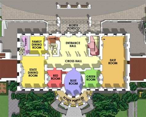 Floor Plan Of The White House | first floor white house museum