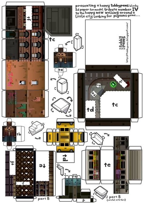 Minecraft Papercraft Models - xbox papercraft template images