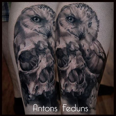 owl tattoo matt jordan snow skowl by antons feduns tattoonow