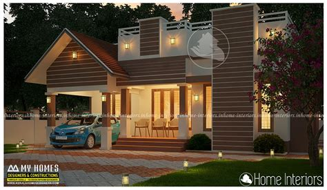 Kerala Home Design 1000 Sq Ft by 1000 Square Feet Single Floor Contemporary Budget Home Design