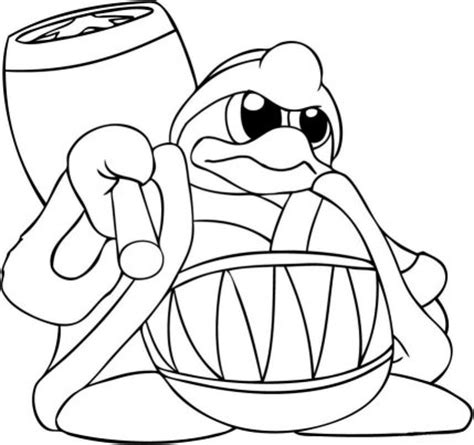 king dedede coloring page coloring cabin kirby coloring pages of nintendo kirby