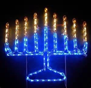 jewish hannukah menorah outdoor yard wireframe by glowpros