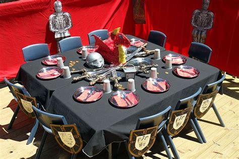 knights of the table ideas and table decorations on