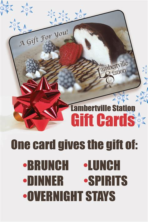Holiday Station Gift Card - holiday gift list lambertville station gift cards delaware river towns
