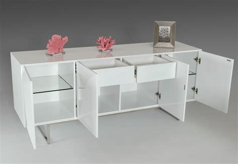 Modrest Vanguard Modern White Buffet Buffets Dining Modern Buffet Table Furniture