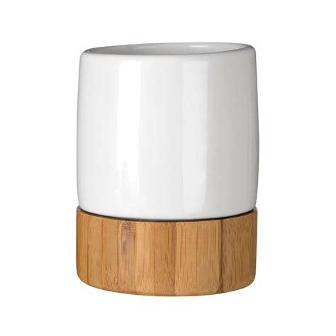 White Wood Bathroom Accessories Earth White Dolomite Wooden Bamboo Base Bathroom Accessories Set Brand New