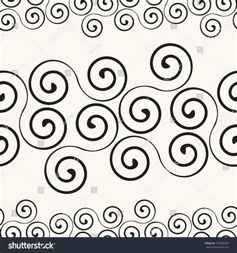 curl pattern en francais seamless pattern stylish spiral curls vector vectores en