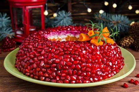 new year cold dishes salad garnet bracelet for the new year house recipes