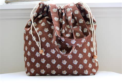 pattern tote bag provence style floral pattern tote bag with a drawstring