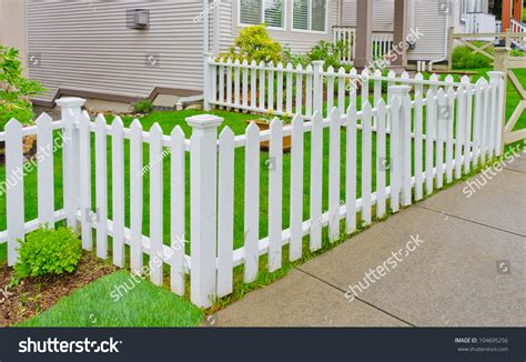 country style fences white wooden country style fence small stock photo
