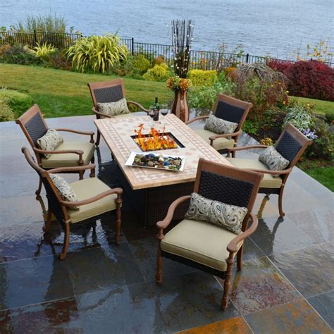 Patio Fire Pit Table Design Outdoor Furniture The Best Patio Sets With Pit Table
