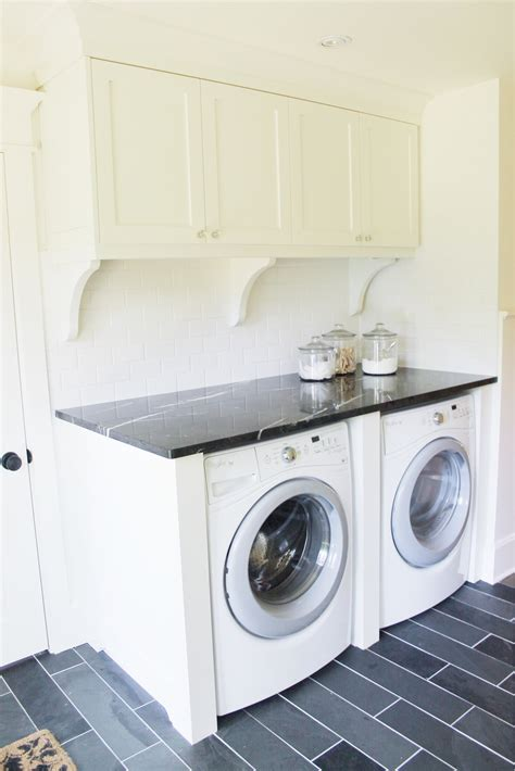 Classic Black And White Laundry Room Renovation The Black And White Laundry