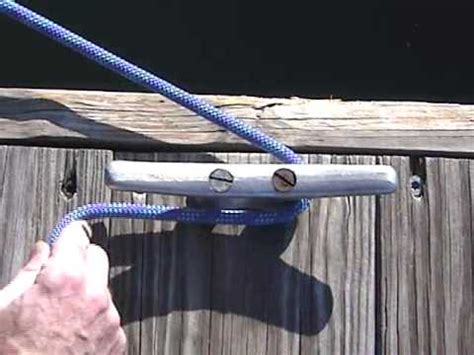 knots on a boat boating knots cleat hitch youtube
