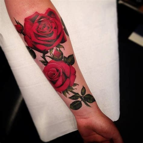 deep red rose tattoo www pixshark images