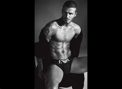 Beckham Strips For Armani by Photos David Beckham Strips For H M