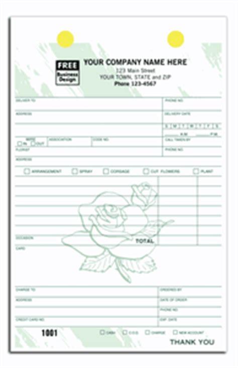floral order form template order forms florist color