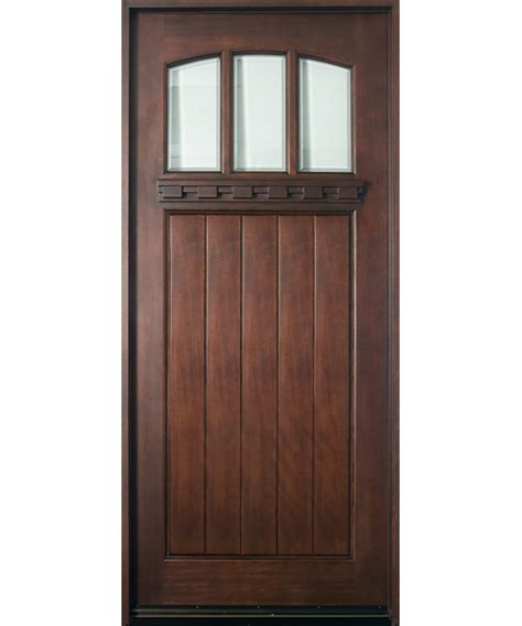 Entry Door In Stock Single Solid Wood With Dark Single Exterior Door