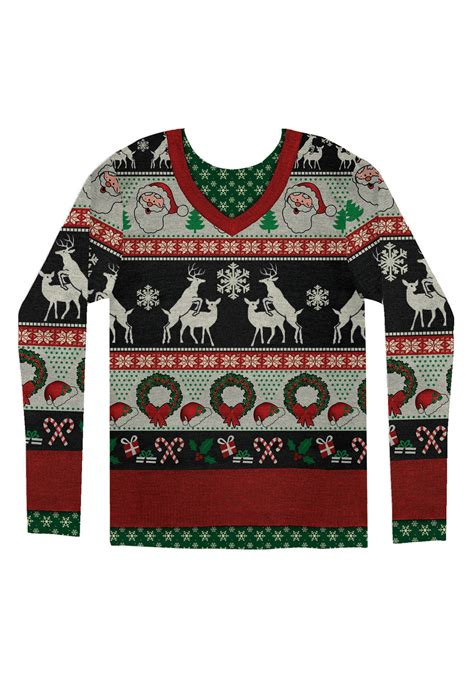 adult frisky deer ugly christmas sweater shirt
