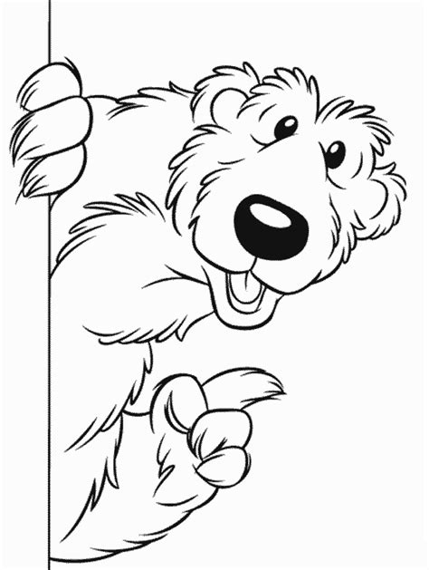 kids page bear in the big blue house colouring coloring