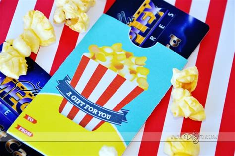 Printable Movie Gift Cards - 10 printable gift card holders