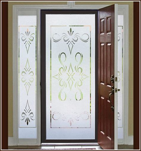 Decorative Glass Windows by New South 32x74 Semi Privacy Etched Glass Decorative