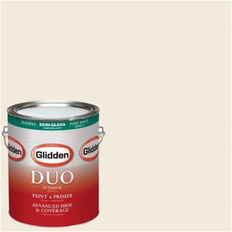 glidden duo 1 gal hdgwn41u swiss coffee semi gloss interior paint with primer hdgwn41u