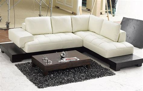 Modern Sectional by Modern Beige Leather Sectional Sofas Gus Modern Sofa