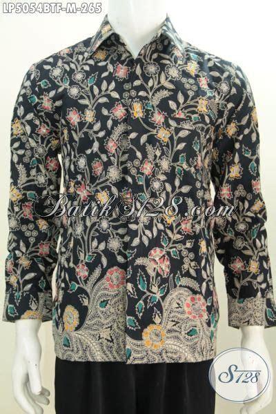 Hem Batik Bagus hem batik bagus motif bunga bunga model lengan panjang