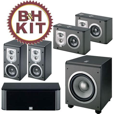 jbl eskitb home theater speaker kit black bh photo video