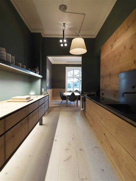 Modern Kitchen Interior Dinesen Showroom Copenhagen By Oeo Yellowtrace