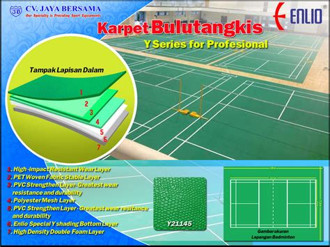 Karpet Olahraga katalog karpet badminton enlio indonesia