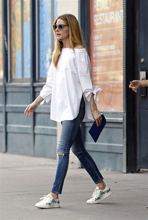 celebrity style olivia palermo in the off the shoulder top for summer vogue