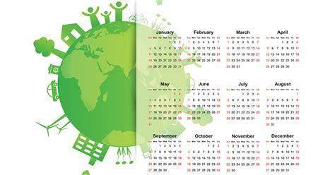 environmental global eco calendar sustainable