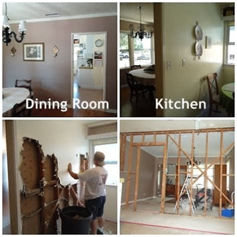 Taking Wall Between Kitchen And Dining Room by Weekend Project Tearing A Wall Organizing Made