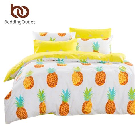 Duvet And Comforter Dropshipping Pineapple Bedding Set Sweet Printed Fruit