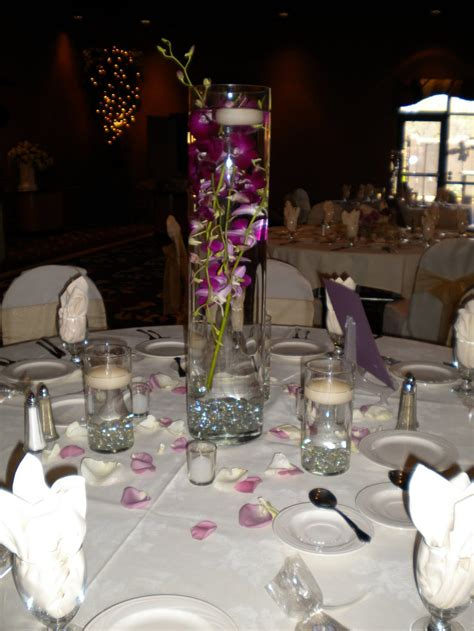 submerged dendrobium orchid centerpiece onewed com