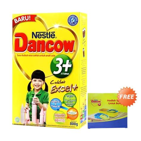 Dancow 3 Coklat 800g 1 jual buy 1 dancow coklat 3 formula 800 g free new lunch box harga