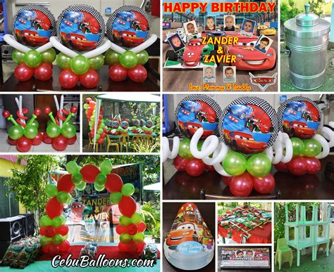 balloon decoration cars theme disney cars theme decoration package combo at