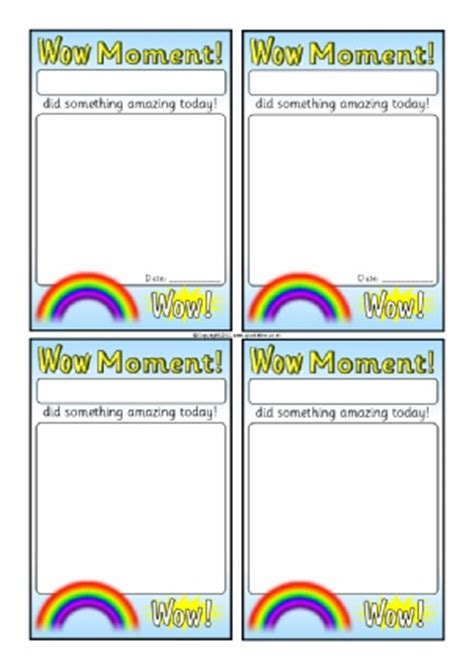 wow card template primary school award certificates printables sparklebox