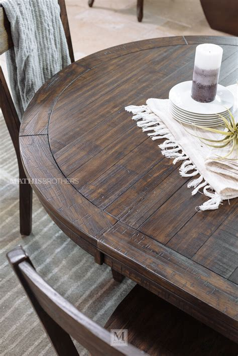 ashley trudell  dining table mathis brothers furniture